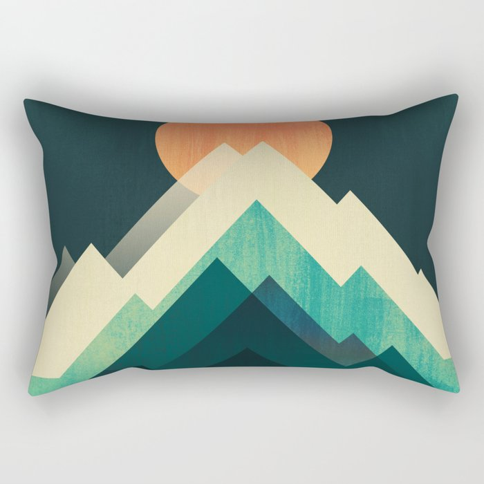 Ablaze on cold mountain Rectangular Pillow