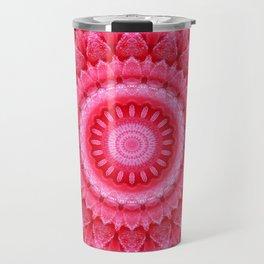 Mandala Rose petals Travel Mug
