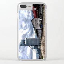 Grain Elevator, Shed, Train Clear iPhone Case