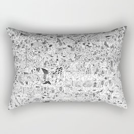 Glitchy old textile collage Rectangular Pillow