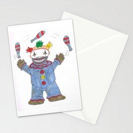Creepy Twisty Clown Stationery Cards