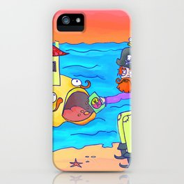 Pirate feeding his fish-home! iPhone Case