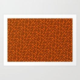 Control Your Game - Tradewinds Orange Art Print