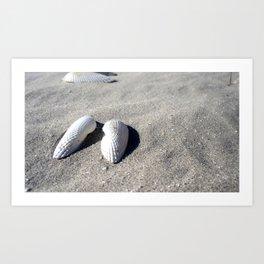 Angel Wings In Sand Art Print