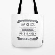 Good Things & Bad Things (gray) Tote Bag
