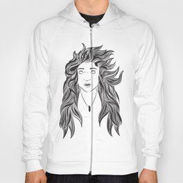 Wind and Hair Hoody