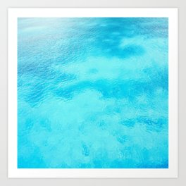 Retro Ocean Water Art Print