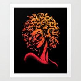 Funky Medusa II Art Print