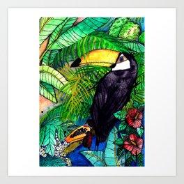 Toucan with Papaya - VIVA LA VIDA Art Print