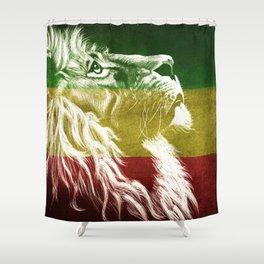 Rasta Art, Rasta Tapestry, Rastafarian, Rasta Gift, Rasta Lion, Rasta Wall Art, Shower Curtain