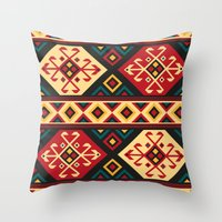 kilim Throw Pillows featuring Colorful Kilim by Pattern Design