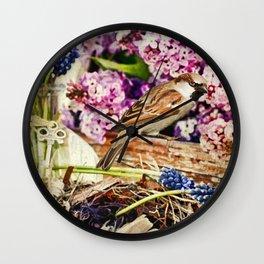 Spring Still Life Wall Clock