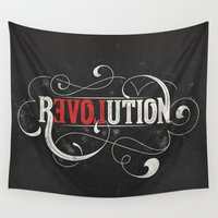 revolution Wall Tapestries featuring Revolution by Mobe13