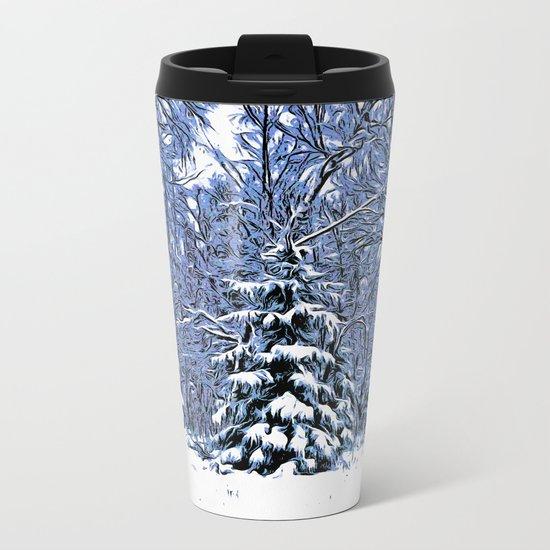 Winter forest II Metal Travel Mug