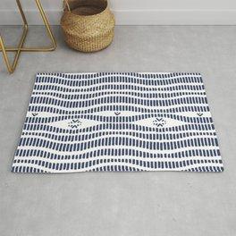 Indigo Pattern - Indigo / Navy & White Rug