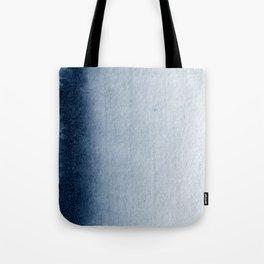 Indigo Vertical Blur Abstract Tote Bag