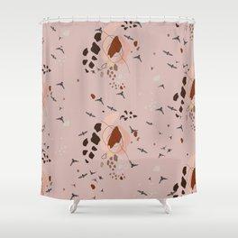Flocking together? Shower Curtain