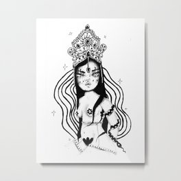 Little Witch Metal Print