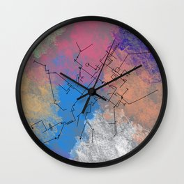 Architecture landscape art style contemporary view Wall Clock
