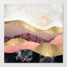 Blush Sun Canvas Print