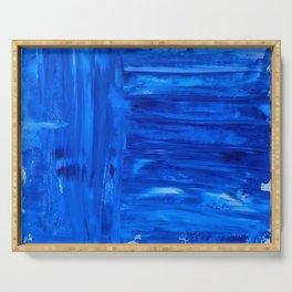 blue canvas azul Serving Tray