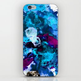 Blue Abstract iPhone Skin