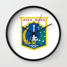 flag of jakarta or Djakarta Wall Clock