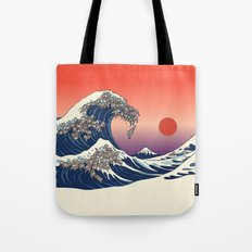 The Great Wave of Sloth Tote Bag