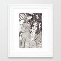 princess mononoke Framed Art Prints featuring Mononoke by nu boniglio