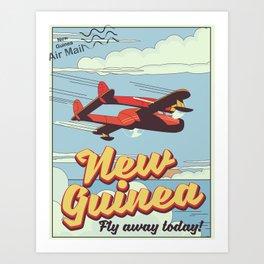 New Guinea adventure poster Art Print