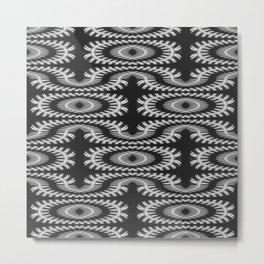 Monochrome centipede arabesque Metal Print