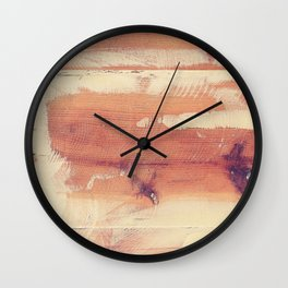 Wood planks shipboard texture Wall Clock