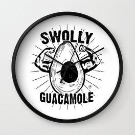 Swolly Guacamole Wall Clock