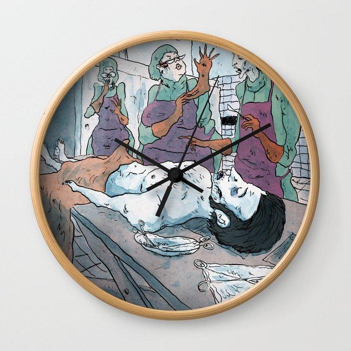 Rigor mortis Wall Clock