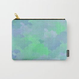 Shades of Blue and Green Octagon Abstract Carry-All Pouch