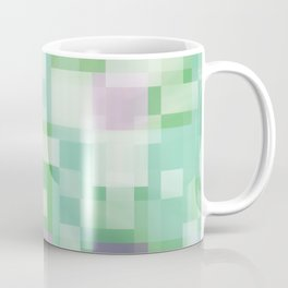 Soft Squares in Pastel Purple and Green Coffee Mug
