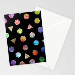 Platonic solids II Stationery Cards