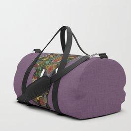 floral elephant violet Duffle Bag