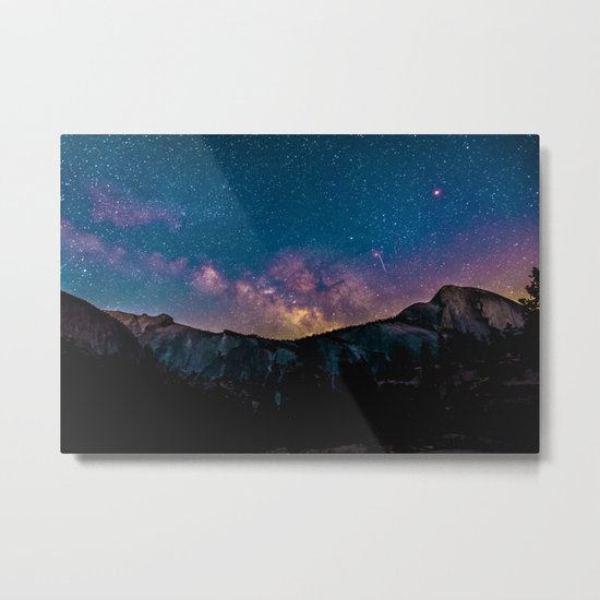 Galaxy Mountain Metal Print