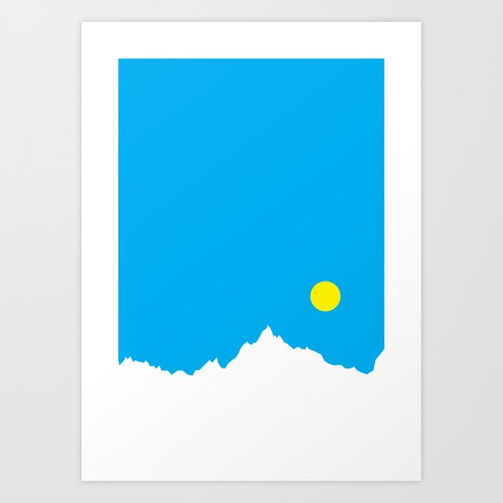 Mountain Sky Day Art Print