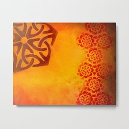 Abstract heat Metal Print