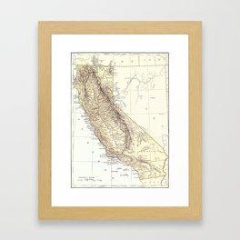 Vintage Map of California (1878)  Framed Art Print