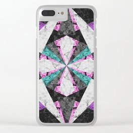 Marble Geometric Background G440 Clear iPhone Case