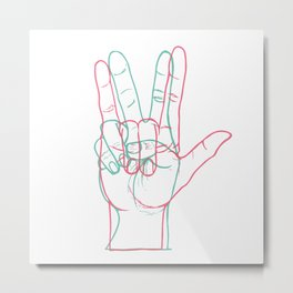 PEACE&LOVE Metal Print