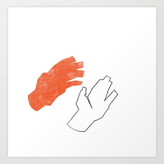 Two Hands Art Print