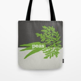 Peas/Carrots Tote Bag