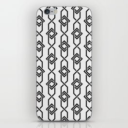 Japanese yukata geometric line pattern in grey iPhone Skin