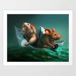 The Conspicuous Failure of the Paper Boat Experts Art Print