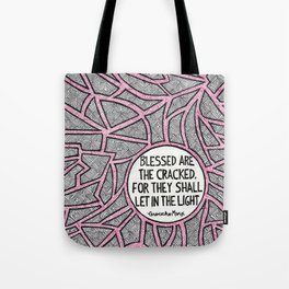 Blessed are the Cracked Tote Bag