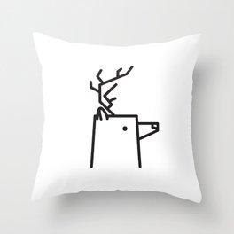 Minimalist Deer Throw Pillow